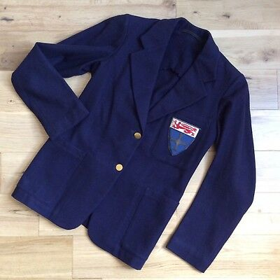 vtg 40s CC41 NEWCASTLE UNIVERSITY (KING'S COLLEGE DURHAM) SCHOOL BLAZER UTILITY