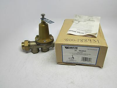 New NIB Watts Regulator Water Pressure Regulator 3/4 inch 24AUB-Z3