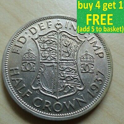 George VI Half-Crown Silver/ Cupro-Nickel Coins Choose your date 1937-1951 ...