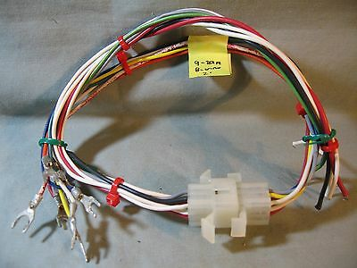 """Molex 9-Circuit Connector Set, .093"""", 8 Pins Prewired W/terminals On End,, Used"""