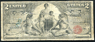 """Fr. 247 1896 $2 Two Dollars """"Educational"""" Silver Certificate"""