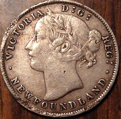 1894 Nfld Newfoundland Silver 20 Twenty Cents In Great Condition !