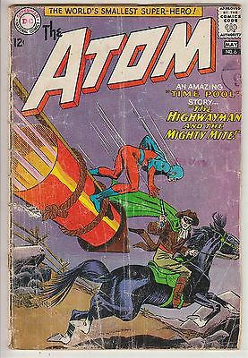 ATOM    V1 # 6  G / G+ IN HIS OWN BOOK  12cts 1963   AMERICAN DC COMIC