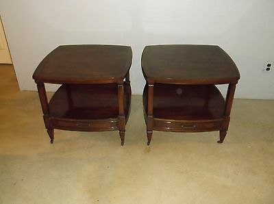 Set Of Two Traditional End Tables -- Mid-20th Century
