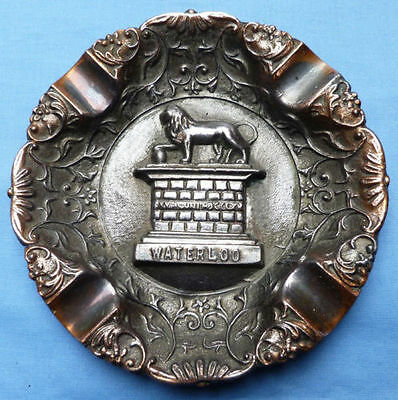 Unique & Interesting C.1900's Battle Of Waterloo Souvenir Ashtray