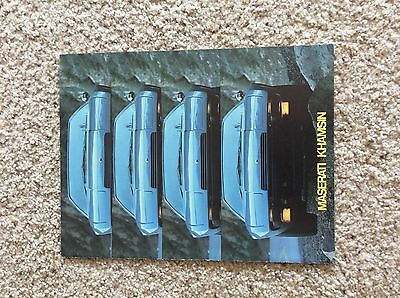 1970s Maserati Khamsin original dealership showroom  color sales handout