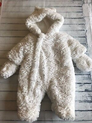 Unisex Tiny Baby Clothes - Stunning Fluffy Warm Snowsuit Pramsuit All in One -