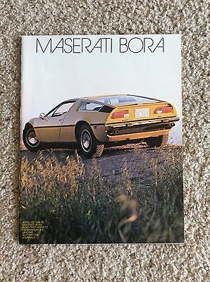 1973 Maserati Bora original dealership showroom or auto show handout