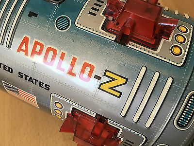 60s/70s MOON TRAVELER APOLLO-Z - NOMURA - Tin Rocket SPACE TOY VERY RARE OVP BOX