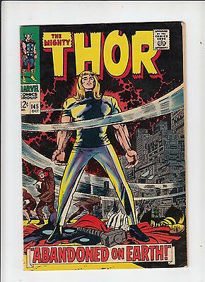 The Mighty Thor #145 (Marvel 1967) fine- Kirby