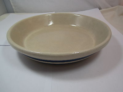 Vintage Robinson-Ransbottom Pottery 2 Blue Stripe Pie Plate Roseville Ohio