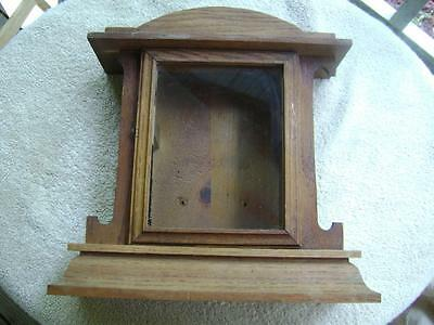Vintage Decorative Gilbert Wood Mantle Clock Case For Parts Only
