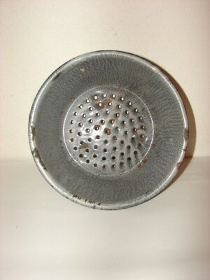 Retro Grey Granite Ware Strainer/Colander
