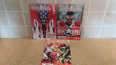 Captain America and the Mighty Avengers (2015) # 1-3 Marvel Comic Book Lot