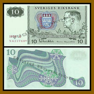 Sweden 10 Kronor, 1979 P-52 Replacement * Star Unc