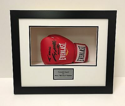 Frame Display Case For Signed Boxing Glove + Personalised Plaque *looks Amazing*