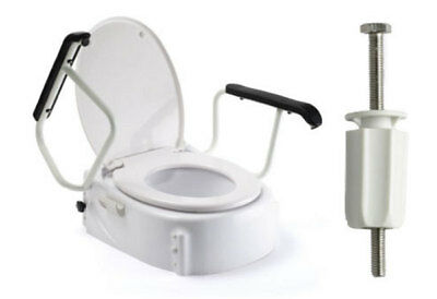 Russka Toilet Seat Booster with Armrests