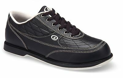 Dexter Turbo Black Tenpin Bowling Shoe for Men, Right or Left Handed Bowlers
