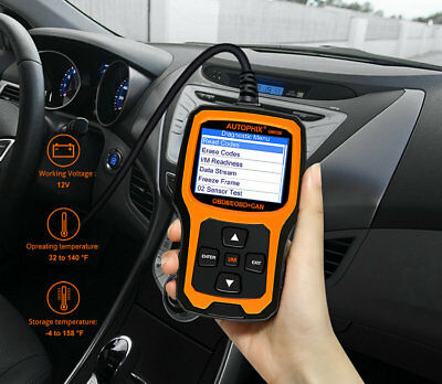 Autophix OBD2 OBDII OBD OM126 Auto Vehicle Code Reader Diagnostics Scan Tool