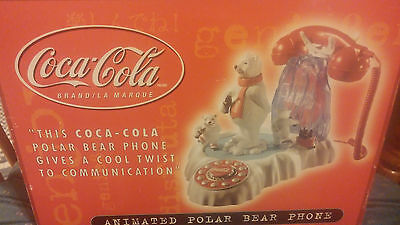 Coca-Cola Animated Polar Bear Phone in Original Box