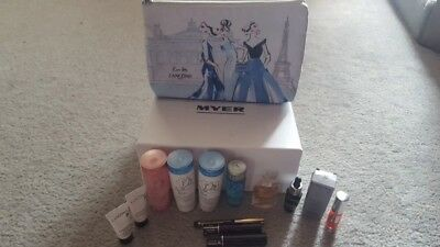 Lancome 13 pcs skincare and make up gift set travel bonus bag
