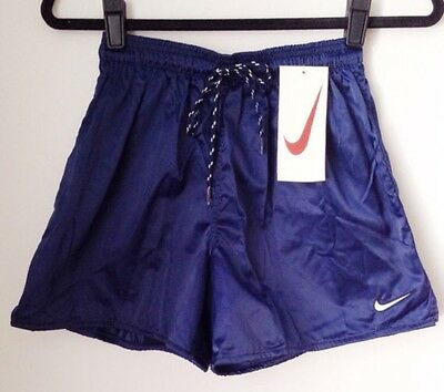 vintage nike white tag shiny shorts youth size XL deadstock NWT 90s