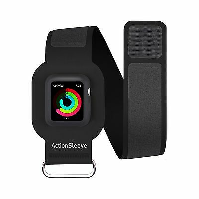 ActionSleeve/Armband for 38mm Apple Watch Protects Watch during Traning, Black