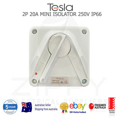 1P 20A Mini Weather Proof Isolator (AUSTRALIAN APPROVED, 3YR WARRANTY)