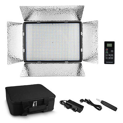 900LED Bi-Color Video Light Panel Dimmable for Canon Nikon DSLR Camera Camcorder