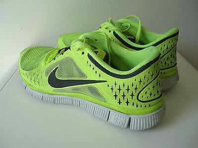 Nike Free Run 3 Men's Running Shoes Size US 8 Yellow Youth Boys