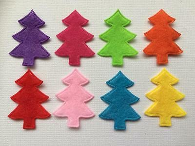 BB CHRISTMAS TREE FELT EMBELLISHMENT pk of 25 mixed craft cards decoration