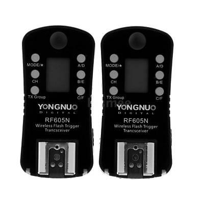 YONGNUO RF-605N Wireless Flash Trigger with LCD + Cable for Nikon DSLR Cameras