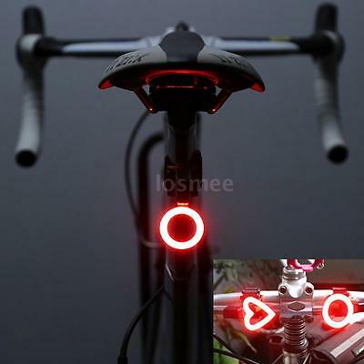 Cycling Bike Taillight Tail Rear Lamp Bicycle LED Safety Warning Light Round
