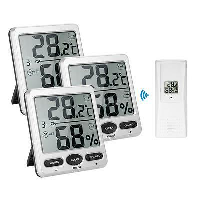 LCD Indoor&Outdoor 8-Channel Thermometer Hygrometer Thermo-hygrometer Hot E8Q9
