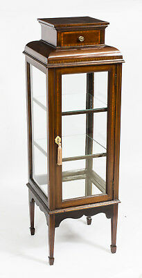 Antique Edwardian Square Vitrine Display Cabinet c.1890