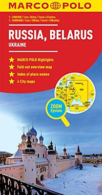 Russia,belarus Marco Polo Map  Book New