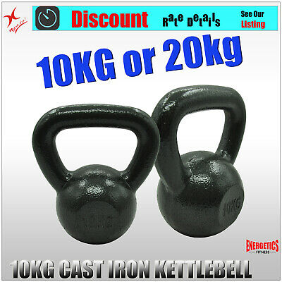 10KG x 1 or 10KG x 2 KETTLEBELL WEIGHT - CAST IRON HOME GYM TRAINING KETTLE BELL