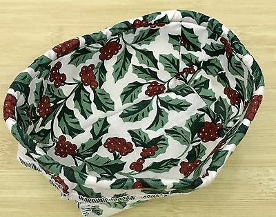 Longaberger Parsley Basket Liner in Traditional Holly