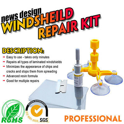 Windscreen Windshield Repair Tool Set DIY Car Auto Kit Wind Glass For Chip Crack