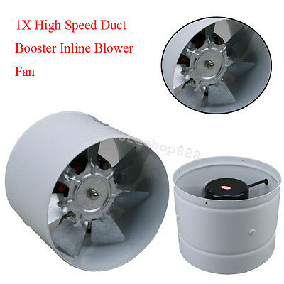 Compact High Speed Duct Booster Inline Blower Fan For Indoor Growing Ventilation