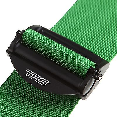 """TRS Magnum Ultralight FHR / HANS 3"""" 6 Point Saloon Harness In Green - MH460-1625"""