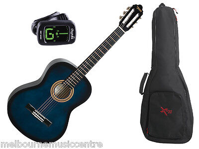 VALENCIA BLUE HALF SIZE (1/2) GUITAR PACK *Inc Guitar, Padded Bag, Tuner* NEW!