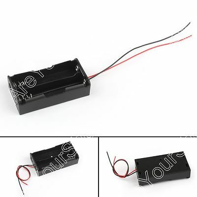 2 Cell 18650 Parallel Battery Holder Case For 3.7V Batteries With Leads
