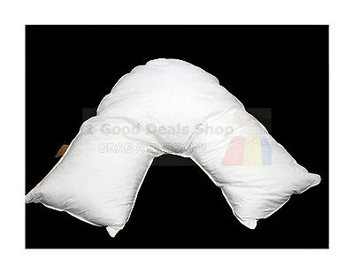 Goose Feather V Shaped Support Pillow Maternity Pregnancy Nursing Baby Support