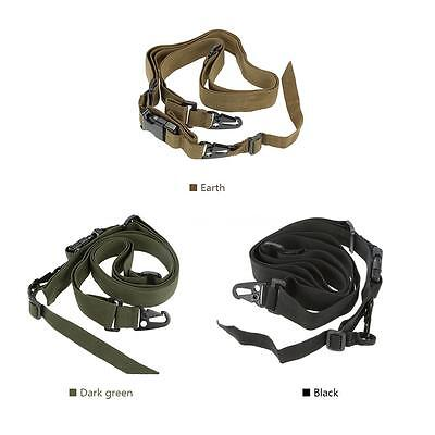 Military Tactical Safety Three Points Carbine Belt Sling Adjustable O6Z4 E3D1