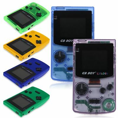 GB BOY COLOUR Backlit Game consoles Gamer Choice build in Games GBC Color