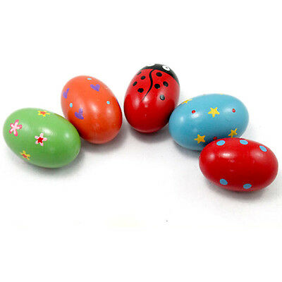 Wooden Music Shaker Toy Percussion Rhythm Instrument Egg Toy For Kids Egg toy