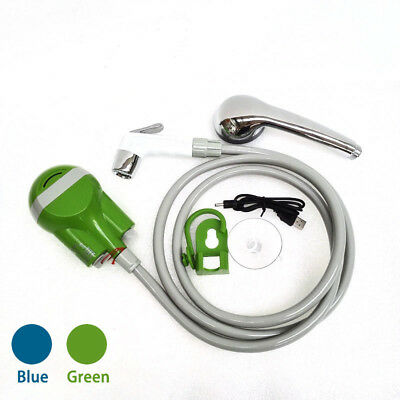 Outdoor Camping Rechargeable Electric Cordless Smart Shower 1.8M Hose USB Cable