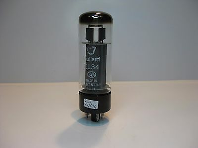 El34 Mullard Tube Valvola Great Britain One Round Getter