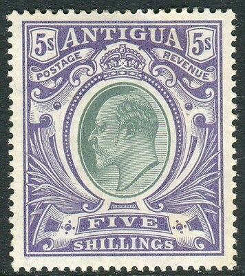 ANTIGUA-1903-7 5/- Grey Green & Violet.  A mounted mint example Sg 40